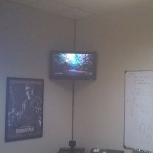 Boardroom conference room TV install with chromecast and chromebox  in Denver Colorado by Streamline at hdtvdenver.com