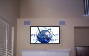 streamline Blank fireplace with Speakers